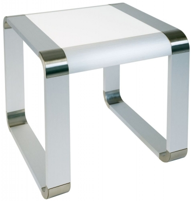 Clearance Greenapple Glass Plus Oasis Lamp Table - White LY83180W - G454