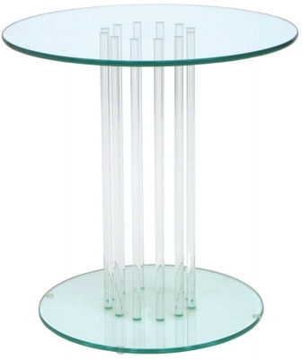 Clearance Greenapple Pure Glass Round Table 59576