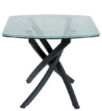 Greenapple Crackle Mosaic Tempered Glass Lamp Table
