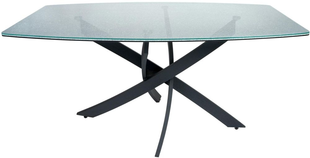 Greenapple Crackle Mosaic Glass Rectangular Dining Table - 160cm