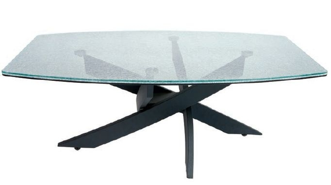 Greenapple Crackle Mosaic Tempered Glass Coffee Table