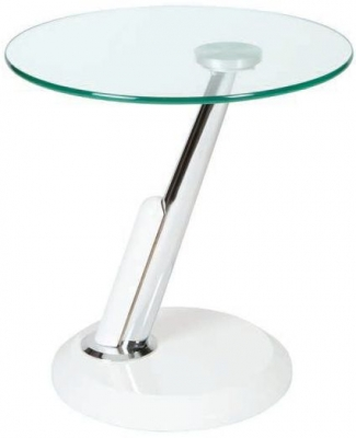Greenapple Dubai Lamp Table - Glass and White