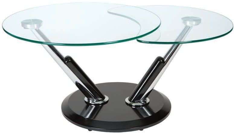 Greenapple Dubai Black Rotating Glass Coffee Table