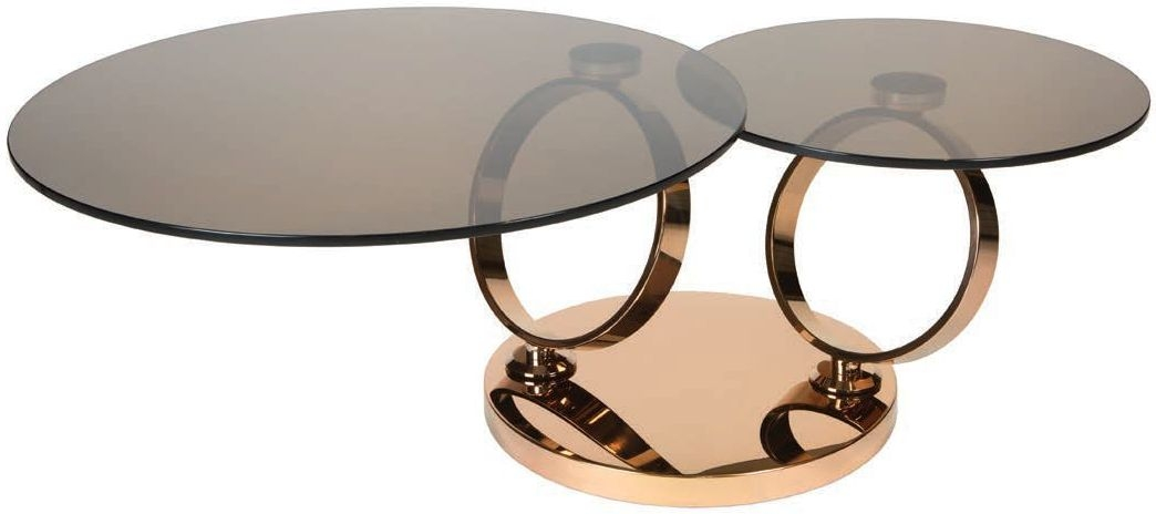 Greenapple Tokyo Eclipse Swivel Rotating Glass Coffee Table