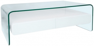 Greenapple Glass Plus Mauritius White Gloss Coffee Table