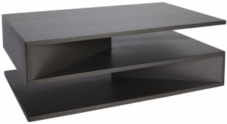 Greenapple Glass Plus Zed Charcoal Coffee Table GA8050