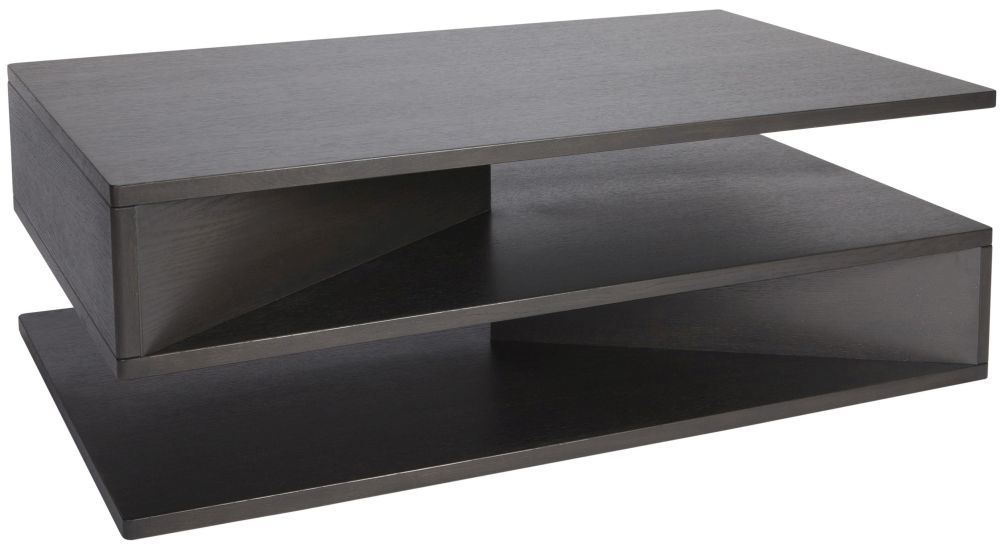 Greenapple Glass Plus Zed Charcoal Coffee Table GA8050