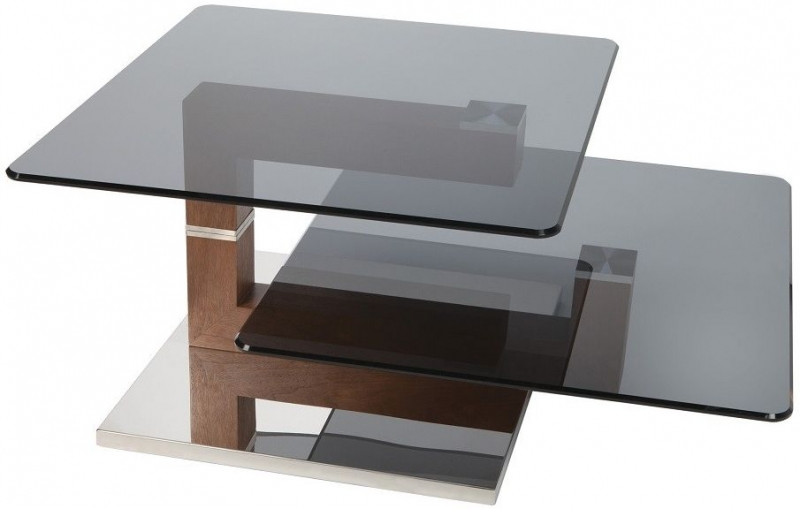 Greenapple Glass Plus Hazel Rotating Coffee Table