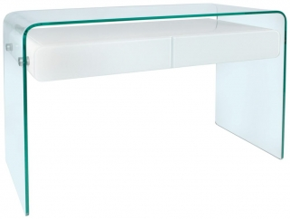 Greenapple Glass Plus Mauritius Console Table - White LY1303