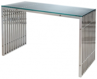 Greenapple Glass Plus Steele Console Table LY4402