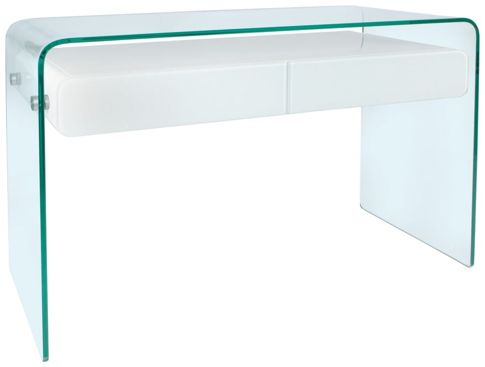 Greenapple glass plus mauritius console table white for White and glass console table