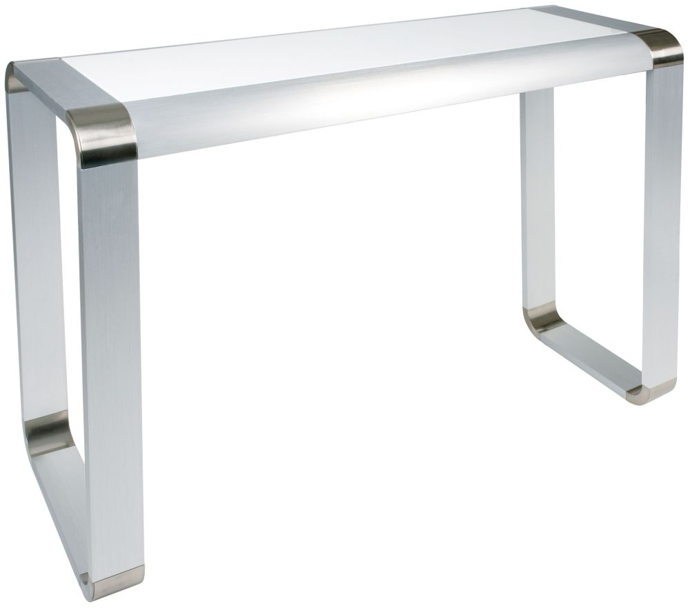 Greenapple Glass Plus Oasis Console Table - White LY85180W