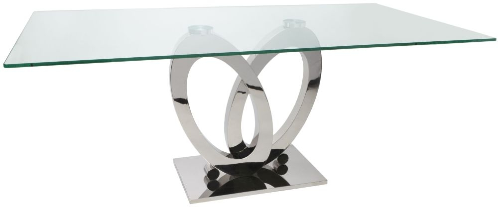 Greenapple Glass Plus Orion Dining Table - 180cm Rectangular