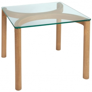 Greenapple Glass Plus Ivory Lamp Table GA9101