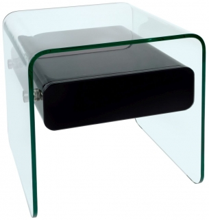 Greenapple Glass Plus Mauritius Lamp Table - Black LY1202