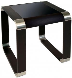 Greenapple Glass Plus Oasis Lamp Table - Black LY83180B