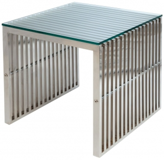 Greenapple Glass Plus Steele Lamp Table LY4401