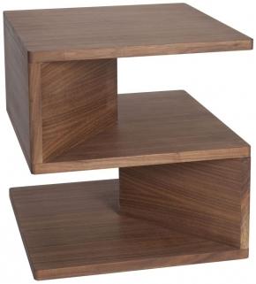 Greenapple Glass Plus Zed Walnut Lamp Table GA8031