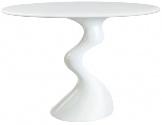 Greenapple Glass Plus Cabaret Table - White GA702