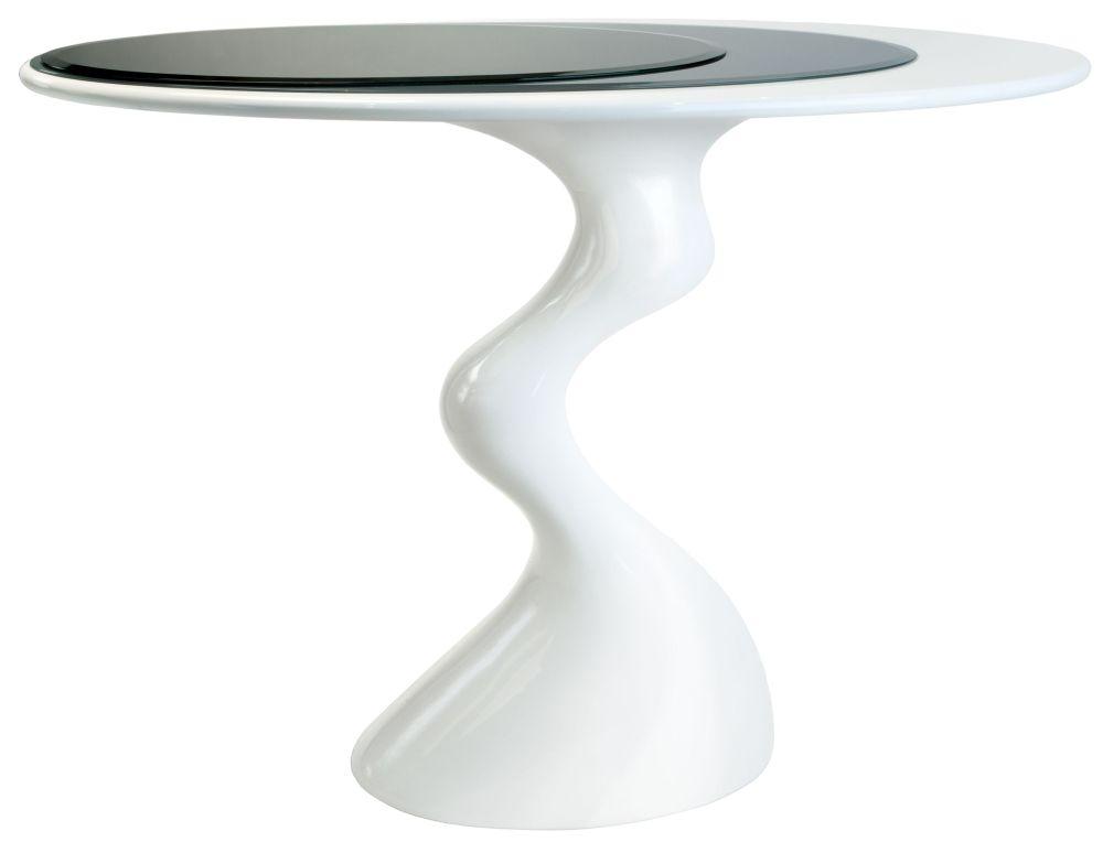 Greenapple Glass Plus Cabaret Table - Black and Grey Top GA701