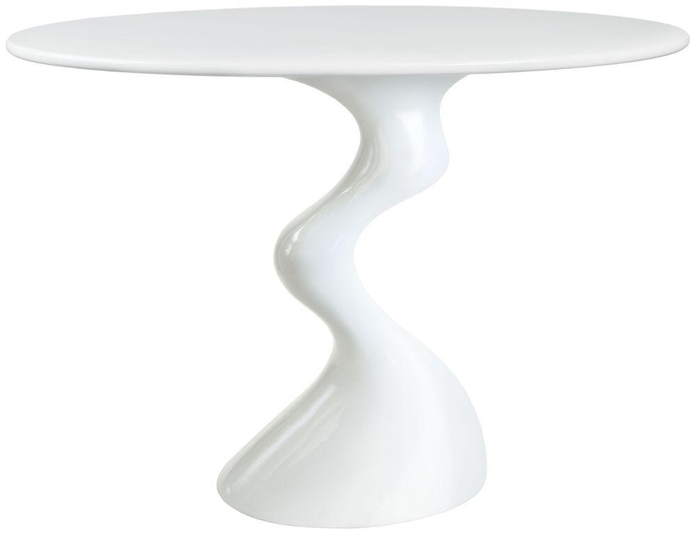 Greenapple Glass Plus Cabaret Table - White GA702