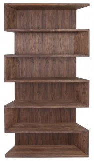 Greenapple Glass Plus Zed Walnut Shelving Unit GA8033