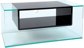 Greenapple Glass Plus Cliff TV Stand - Gloss Black 59404