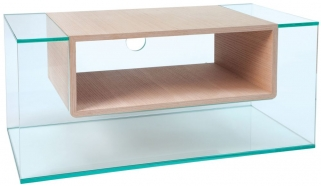 Greenapple Glass Plus Cliff TV Stand - Oak 59403