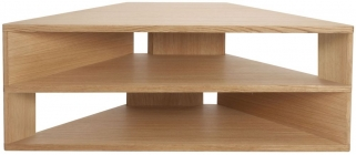 Greenapple Glass Plus Zed TV Stand - Oak GA802
