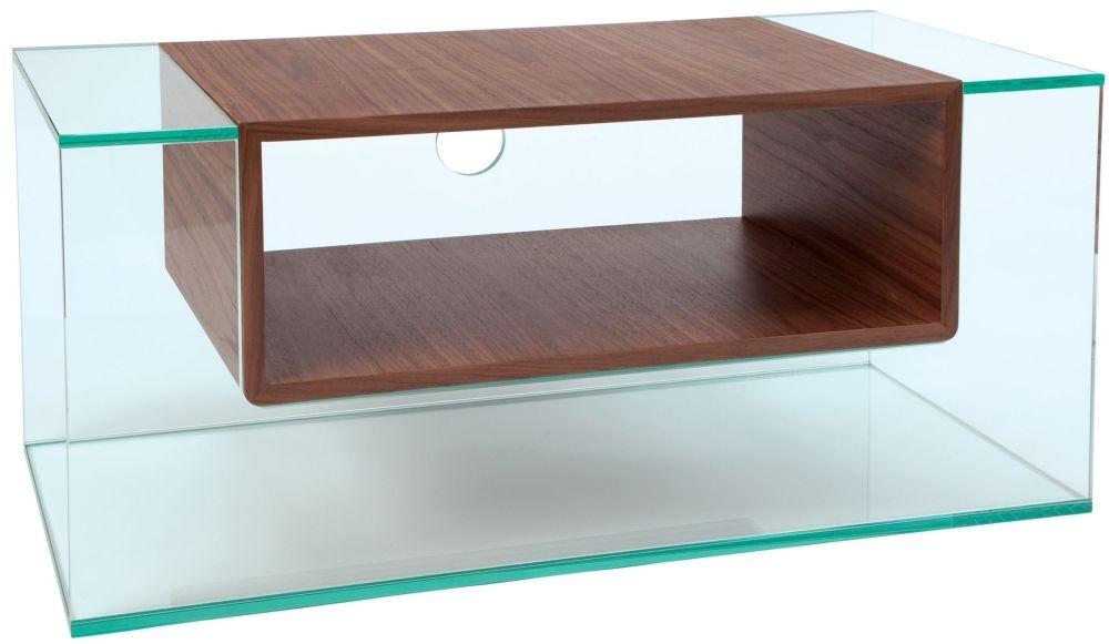 Greenapple Glass Plus Cliff TV Stand - Walnut 59402