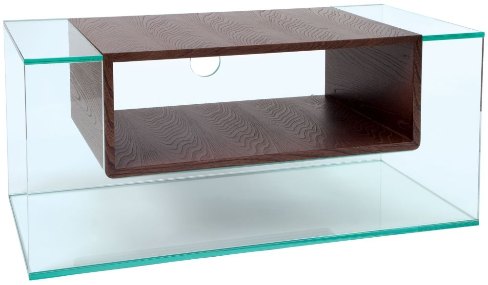 Greenapple Glass Plus Cliff TV Stand - Wenge 59401