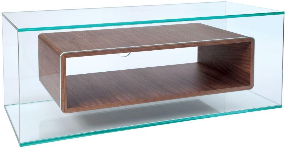 Greenapple Glass Plus Niche TV Stand - Walnut 59407