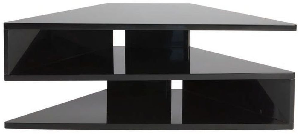 Greenapple Glass Plus Zed TV Stand - Black GA800