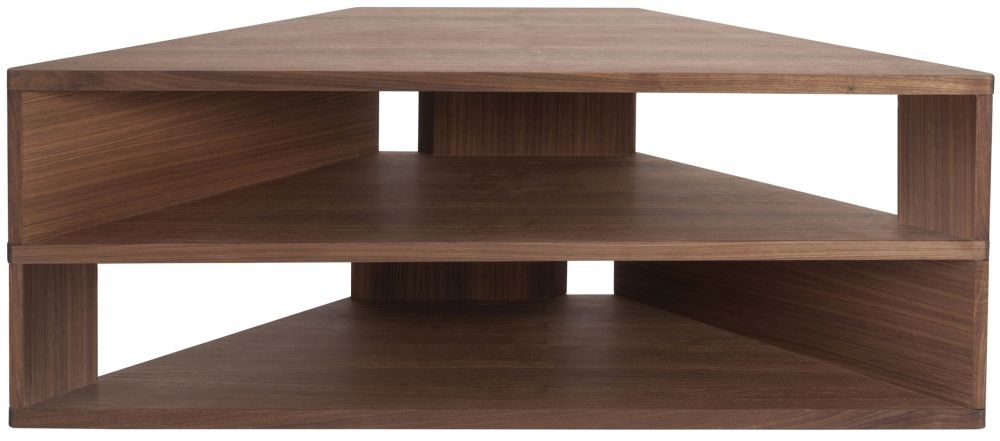 Greenapple Glass Plus Zed TV Stand - Walnut GA803