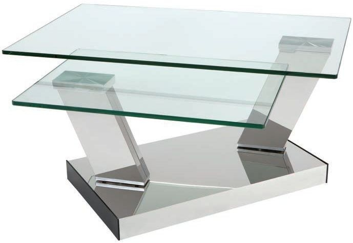 Greenapple Kinetic Rotating Glass Coffee Table