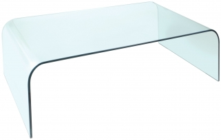 Greenapple Pure Glass Arc Coffee Table