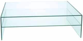 Greenapple Pure Glass Rectangular Coffee Table
