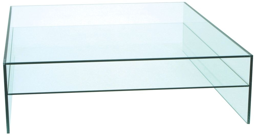 Greenapple Pure Glass Square Coffee Table - 59982B