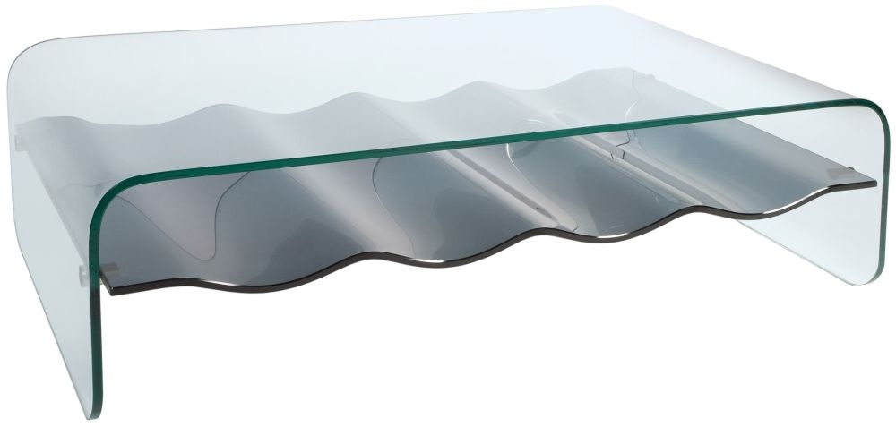 Greenapple Pure Glass Ripple Coffee Table
