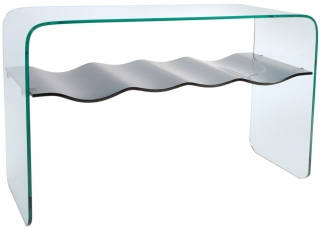Greenapple Pure Glass Ripple Console Table