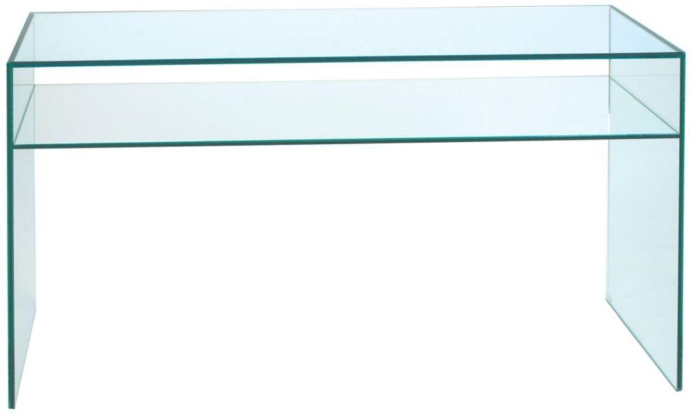 Greenapple Pure Glass 1 Shelf Console Table