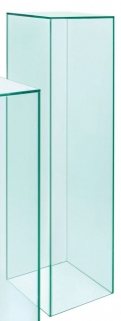 Greenapple Pure Glass Column Display Pedestal - Large 59426
