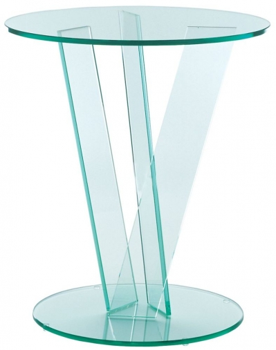 Buy Greenapple Pure Glass Round Occasional Table 59128