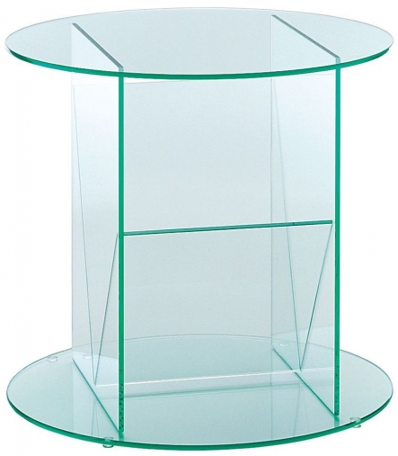 Buy Greenapple Pure Glass Round Table And Magazine Rack