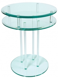 Greenapple Pure Glass Round Occasional Table 59107