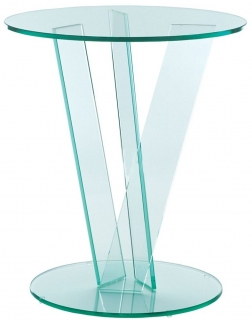 Greenapple Pure Glass Round Occasional Table