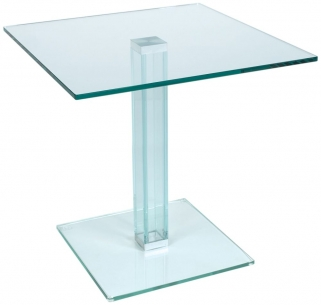 Greenapple Pure Glass Square Table with Glass Leg 59289