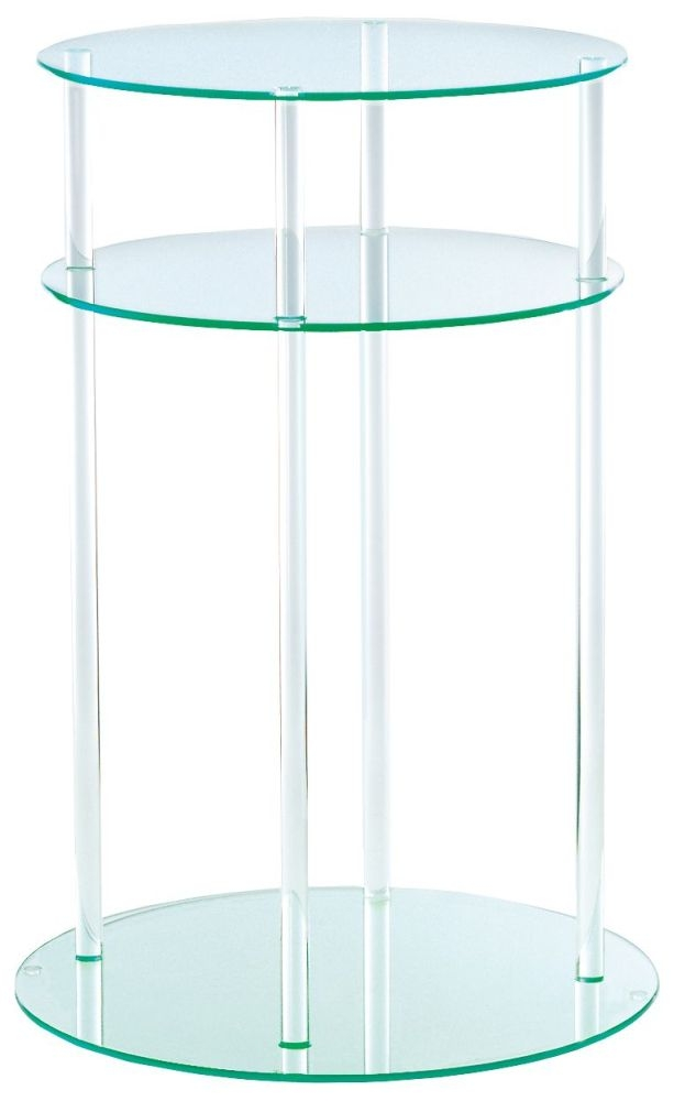 Greenapple Pure Glass Round Table 59596