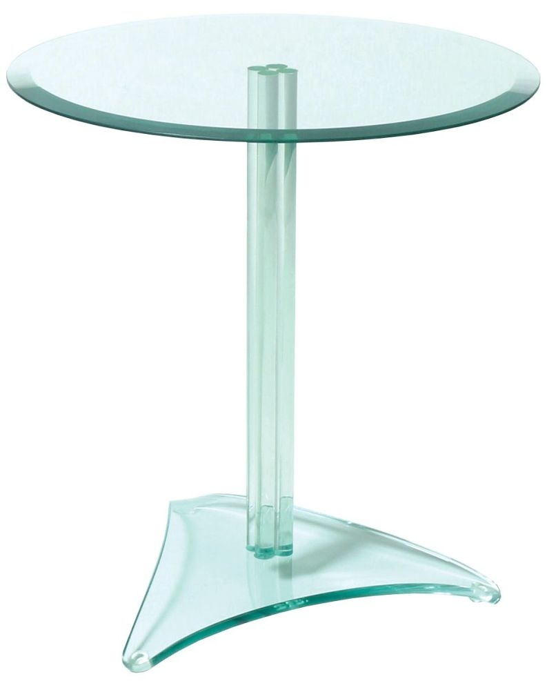 Greenapple Pure Glass Round Table - Single Stem of Tubes 59625