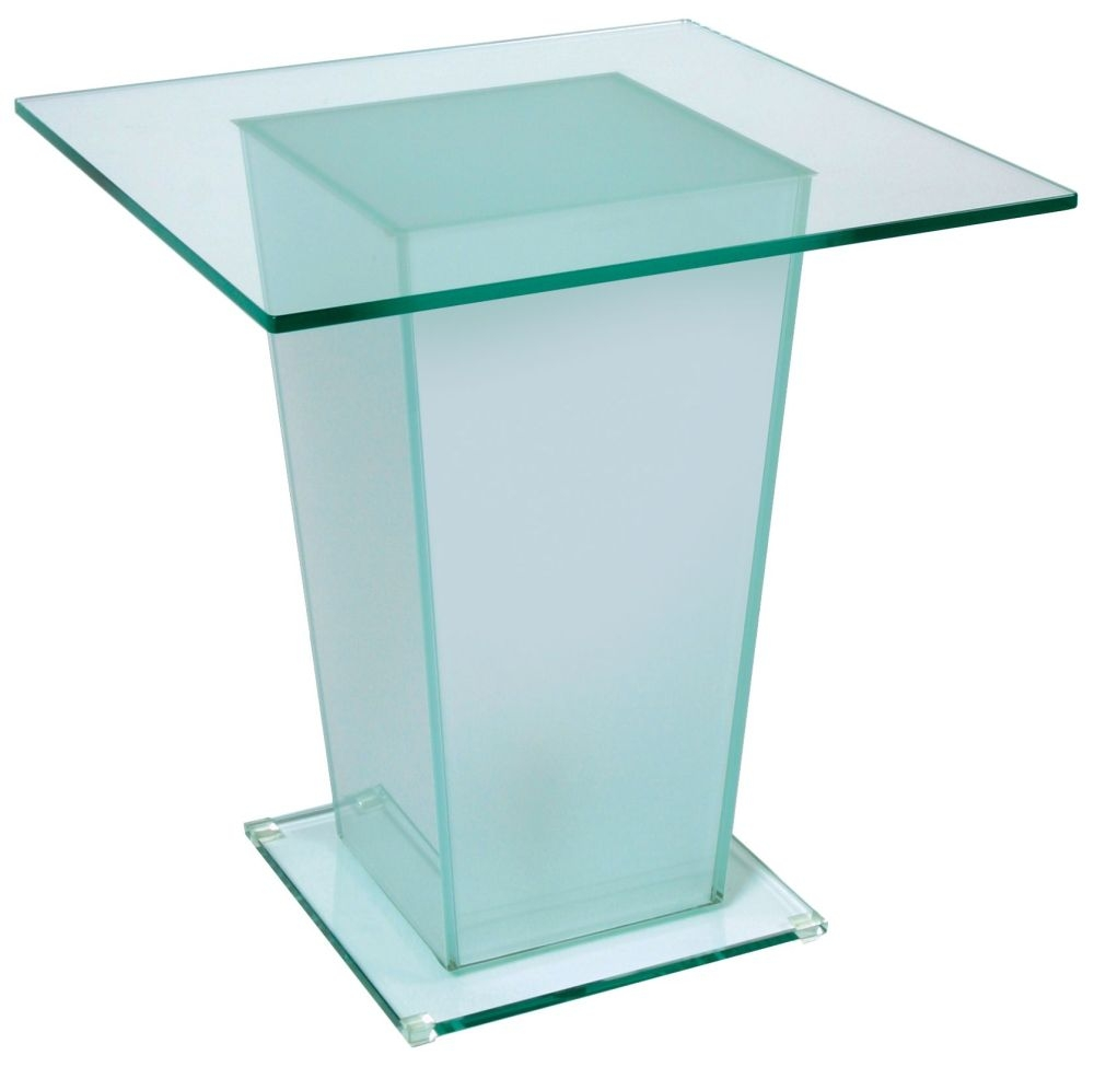 Greenapple Pure Glass Table with Lamp in Base 59162